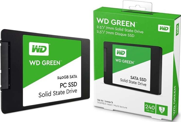 SSD WESTERN DIGITAL WDS240G2G0A, 240 GB, Serial ATA III, 545 MB/s, 6 Gbit/s - UCCTI - Servicios Informáticos